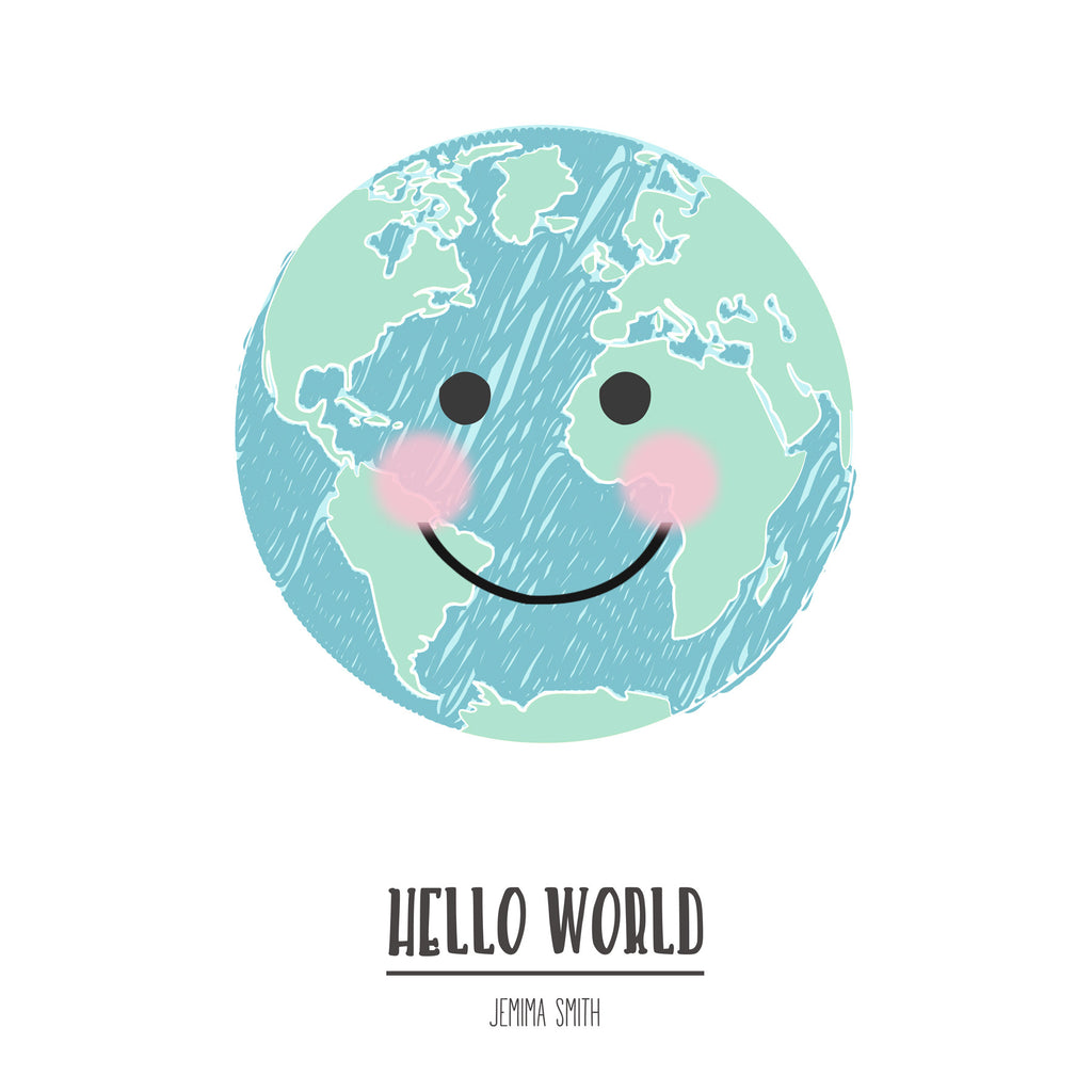 'Hello World' Personalised Print-A4 Print-Of Life & Lemons®