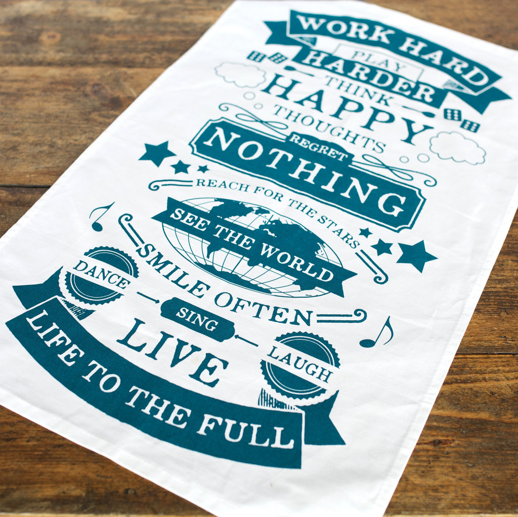 Life Rules Tea Towel-Tea Towel-Of Life & Lemons®