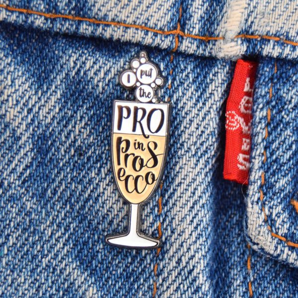 Prosecco Enamel Pin Badge