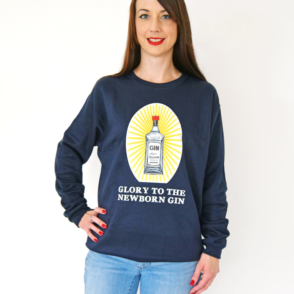 'Glory to the Newborn Gin' Christmas Jumper-Tote Bag-Of Life & Lemons®