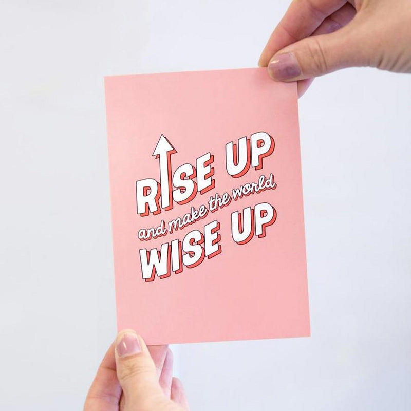 'Rise Up' Postcard-A4 Print-Of Life & Lemons®