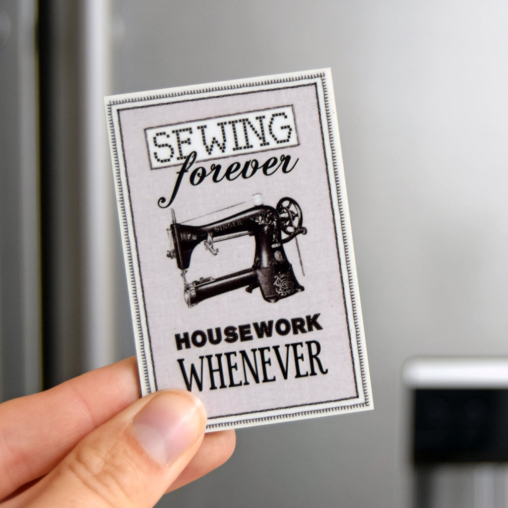 Funny Sewing Fridge Magnet-Of Life & Lemons®