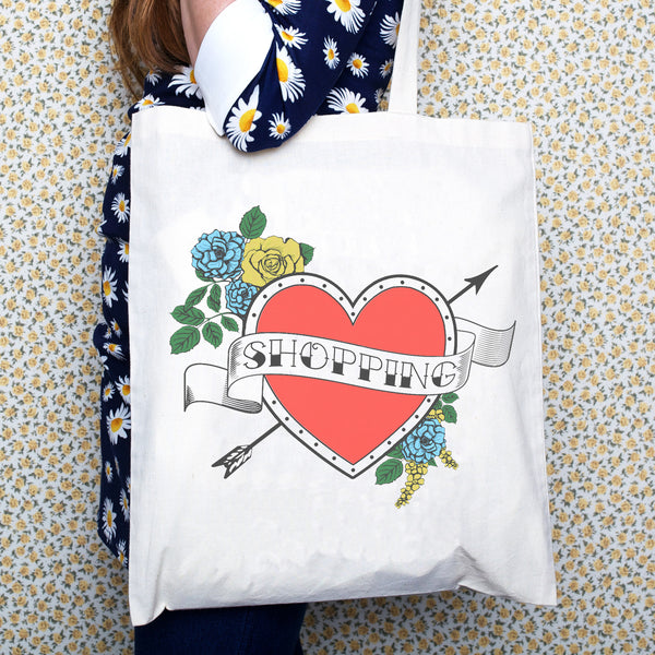 Tattoo 'Shopping' Tote Bag