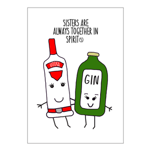'Together in Spirits' Personalised Sister Print-A4 Print-Of Life & Lemons®