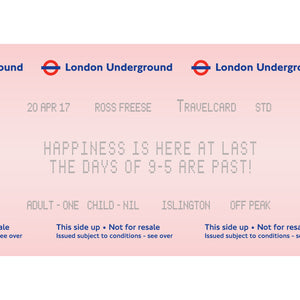 London Underground Personalised Retirement Print-A4 Print-Of Life & Lemons®