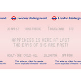 London Underground Personalised Retirement Print