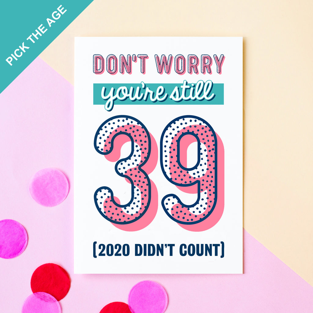 Funny Age Birthday Card