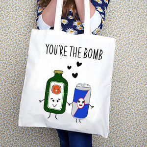 'You're the Bomb' Tote Bag-Tote Bag-Of Life & Lemons®