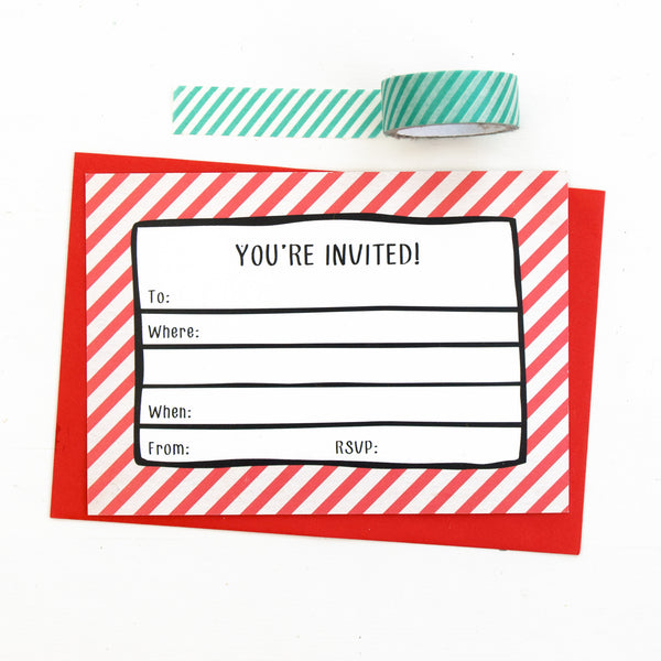 Adult 'Boozy' Party Invitations