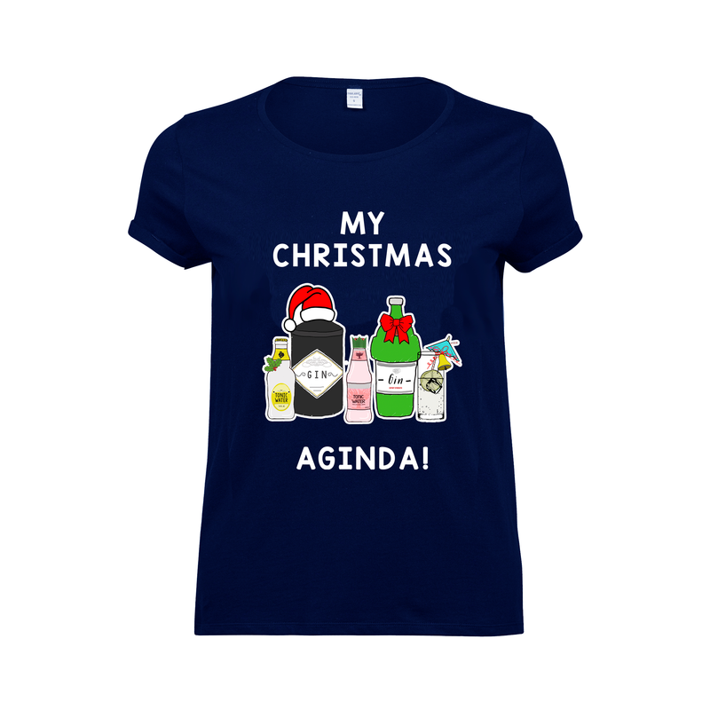 'AGINda' Gin Christmas T-Shirt-Tote Bag-Of Life & Lemons®