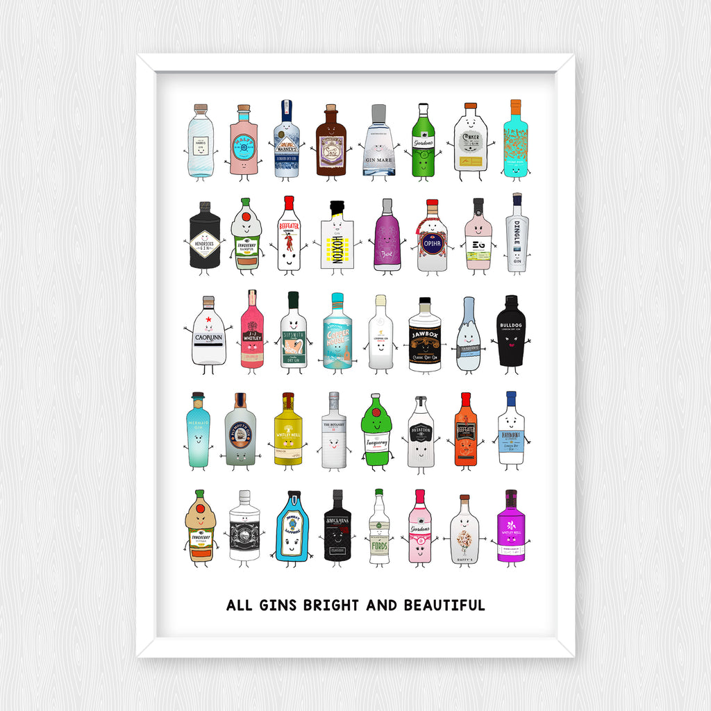 'All Gins Bright & Beautiful' Print