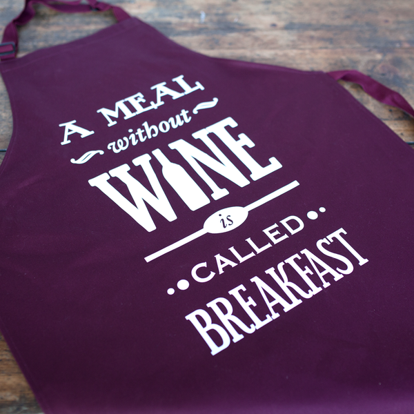 A Meal Without Wine Apron