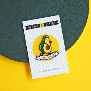 'Avocardio' Enamel Pin Badge