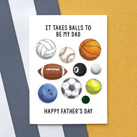 Funny Sports Father's Day Card-A4 Print-Of Life & Lemons®