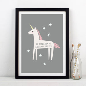 'Be a Unicorn' Print-A4 Print-Of Life & Lemons®