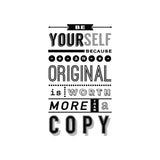 'Be Yourself' Typography Print