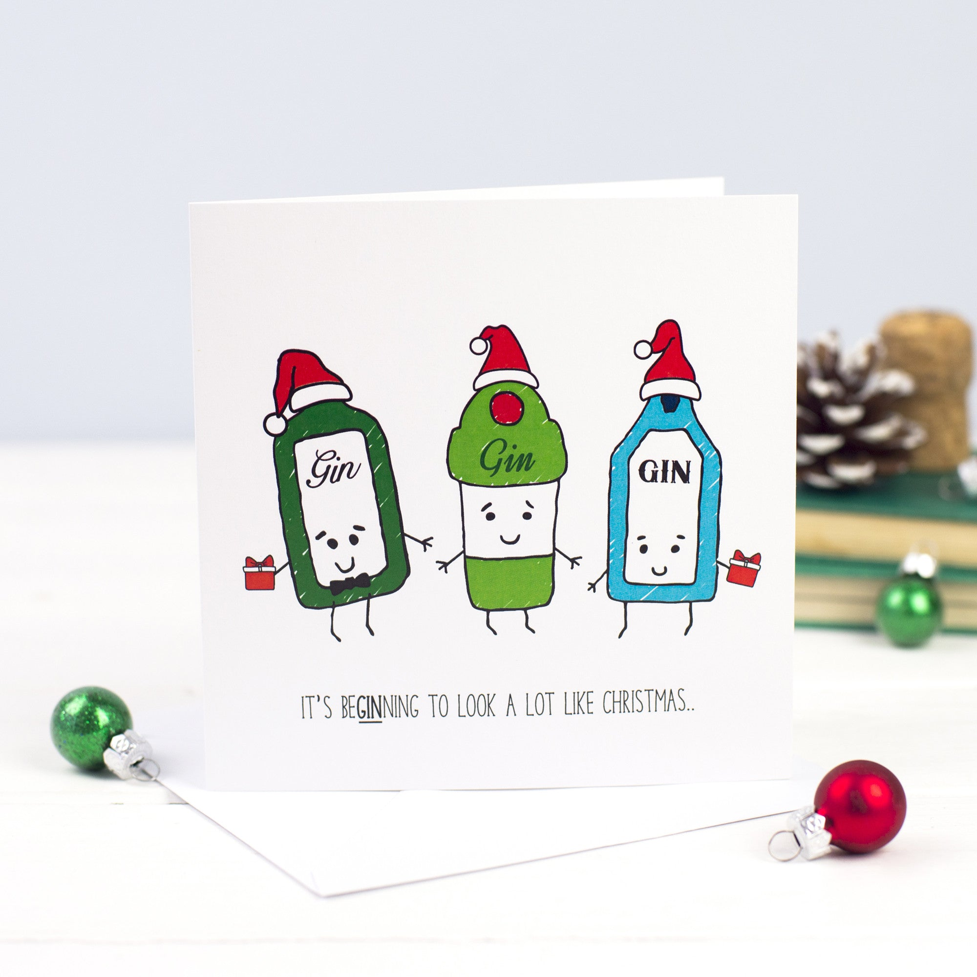 DISCONTINUED - Funny Gin Christmas Card – Of Life & Lemons®