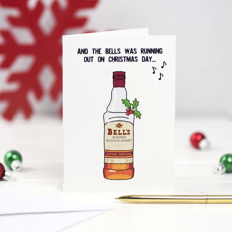 Funny Whisky Christmas Card-A4 Print-Of Life & Lemons®