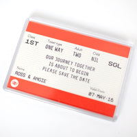 Train Ticket Save the Date Magnet-A4 Print-Of Life & Lemons®