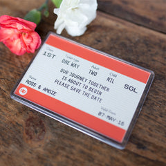 Train Ticket Save the Date Magnet