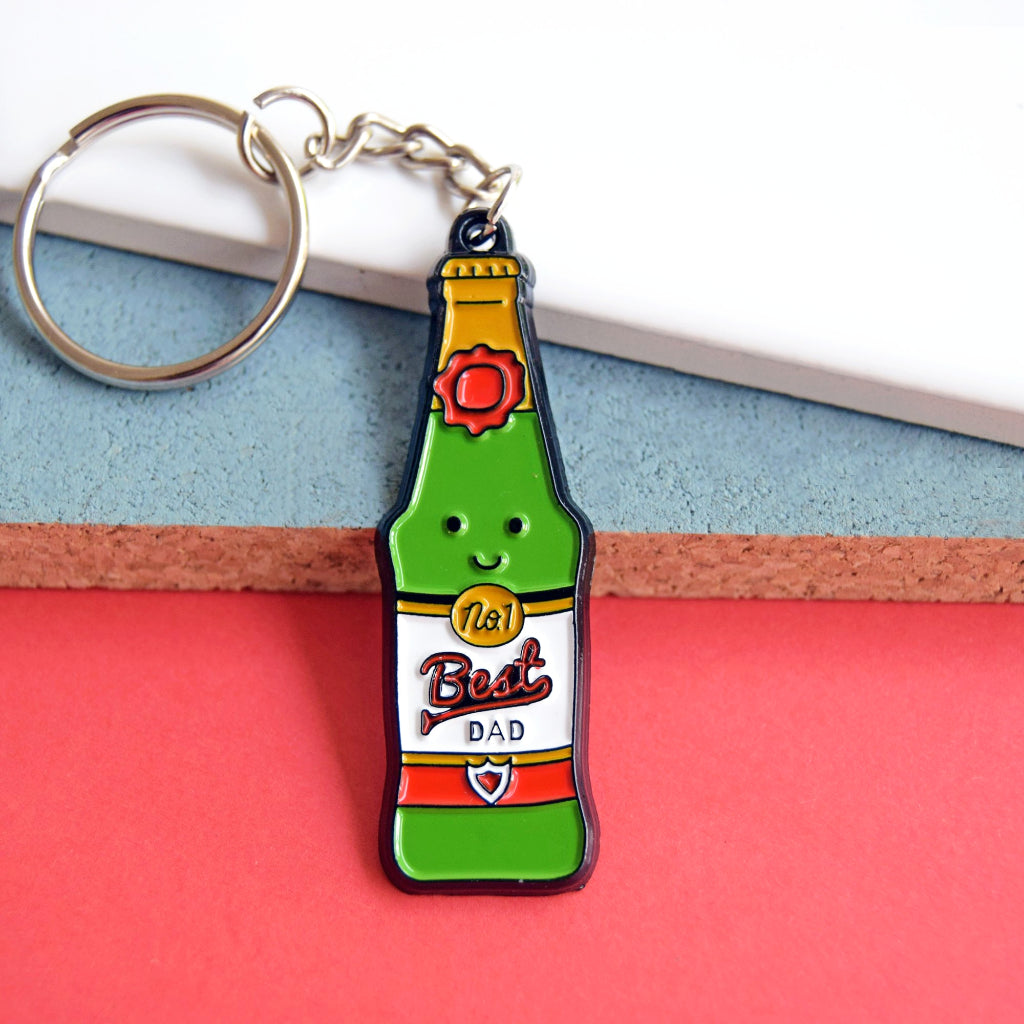 'Best Dad' Beer Father's Day Keyring-Of Life & Lemons®