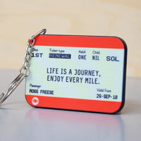 Personalised Train Ticket Birthday Keyring-Keyring-Of Life & Lemons®