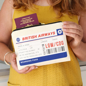Personalised Boarding Pass Travel Pouch-Tote Bag-Of Life & Lemons®