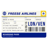 Personalised Boarding Pass Print