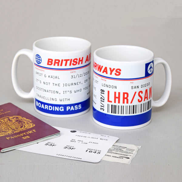 Personalised Boarding Pass Mug-mug-Of Life & Lemons®