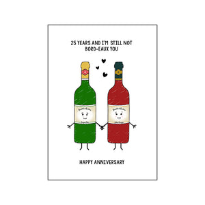 Personalised Wine Anniversary Card-Of Life & Lemons®