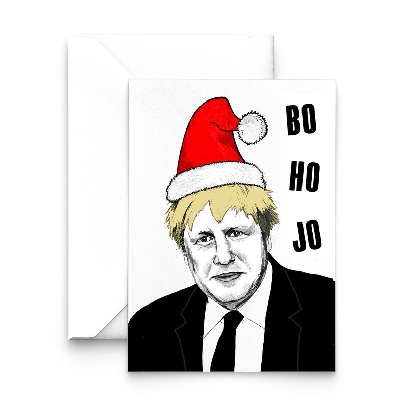 'Ho Ho Bo Jo' Funny Boris Christmas Card-A4 Print-Of Life & Lemons®