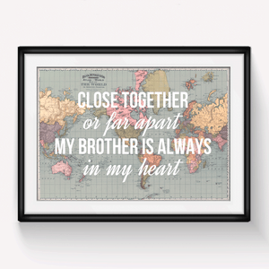 Personalised Brother Print-A4 Print-Of Life & Lemons®
