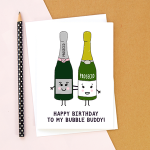 Friendship Prosecco Birthday Card