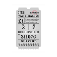 Vintage Personalised Bus Ticket Print