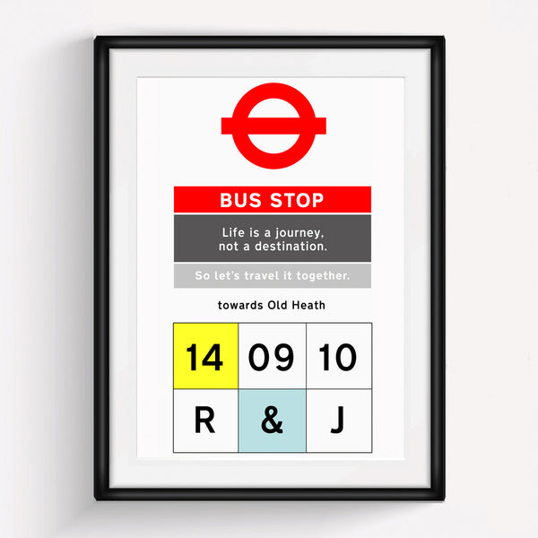 Personalised Bus Stop Print