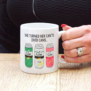 Funny Motivational Gin Mug-Of Life & Lemons®