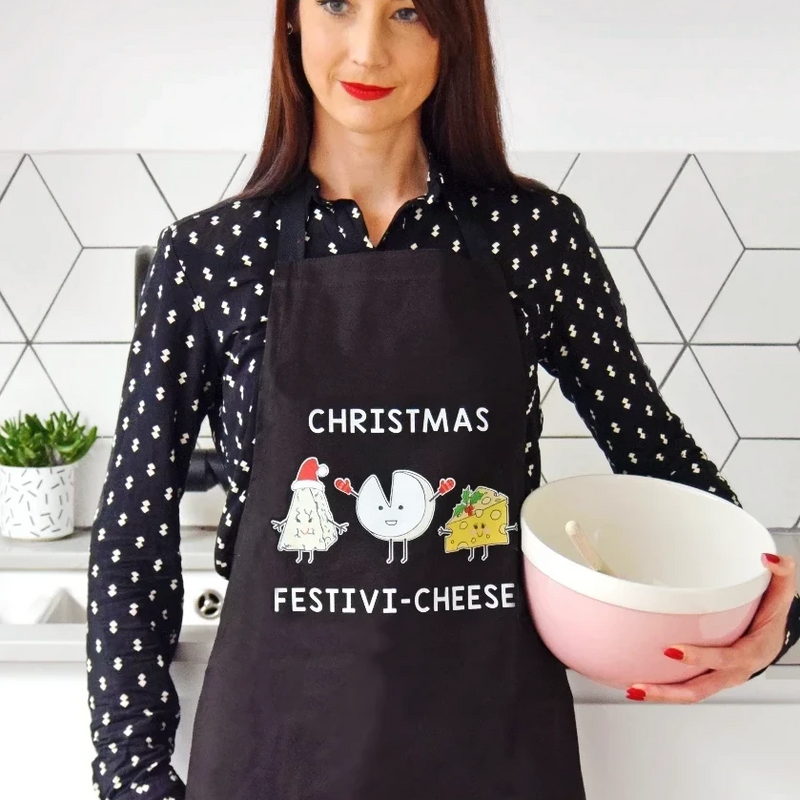 Funny Cheese Christmas Apron