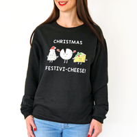 Funny Cheese Christmas Jumper-Tote Bag-Of Life & Lemons®