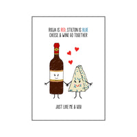 Cheese & Wine Valentine's Card-Of Life & Lemons®
