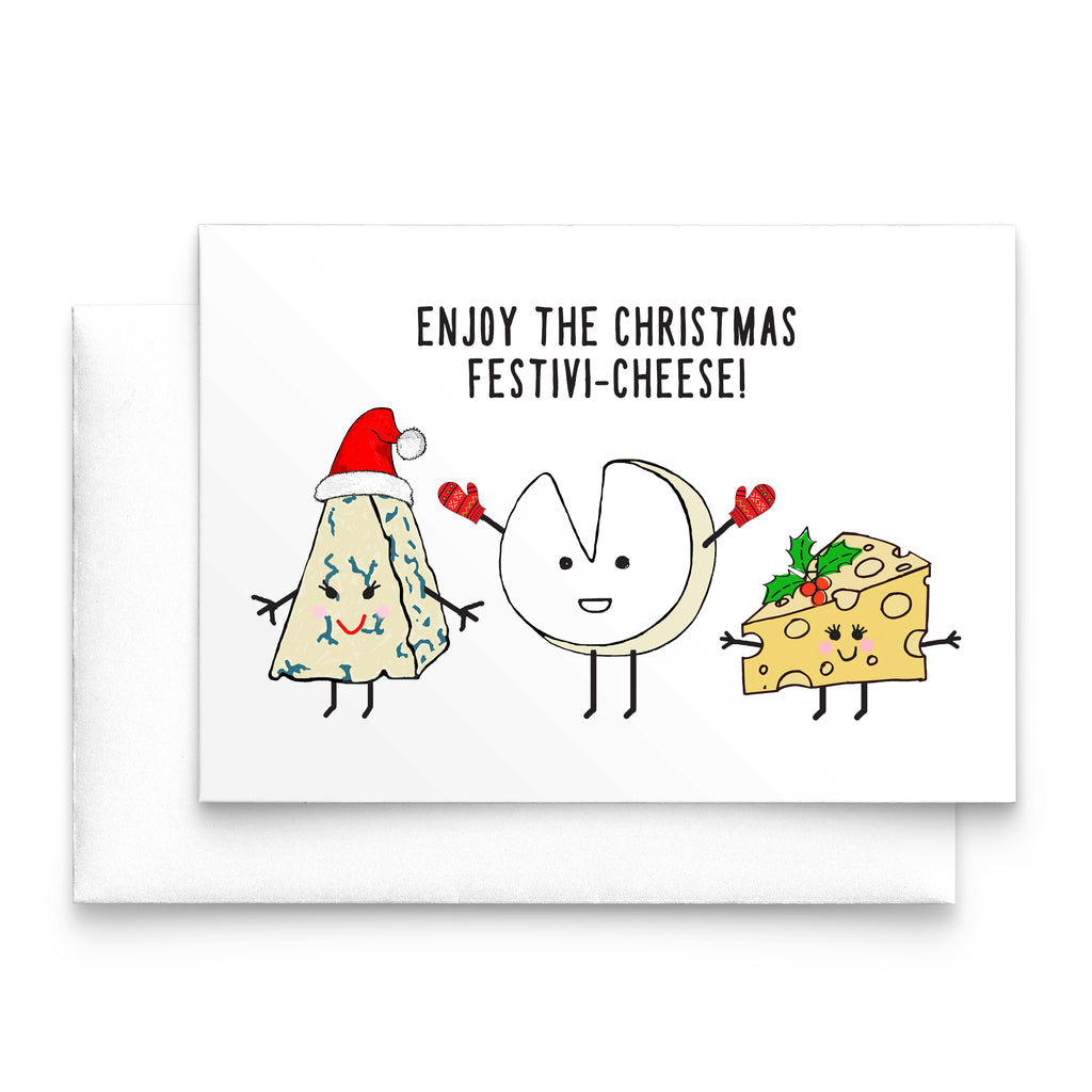 Funny Cheese Christmas Card-A4 Print-Of Life & Lemons®