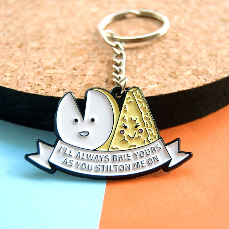 Funny Cheese Valentine's Keyring-Of Life & Lemons®