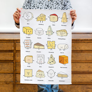 Funny Cheese Christmas Tea Towel