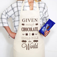'Given Enough Chocolate' Apron-Aprons-Of Life & Lemons®