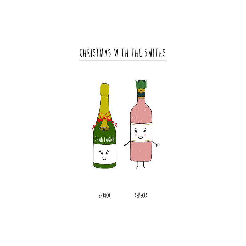 Personalised Christmas Drinks Print-A4 Print-Of Life & Lemons®