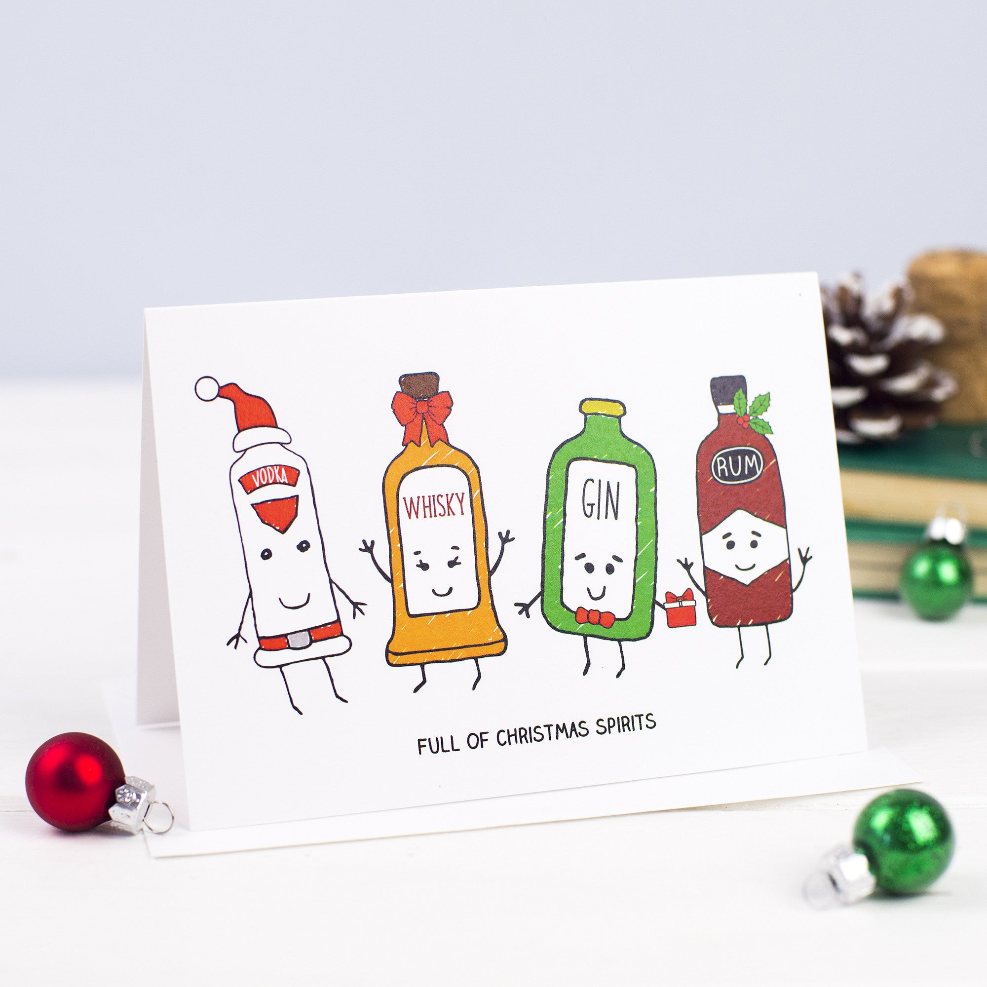 'Christmas Spirits' Christmas Card