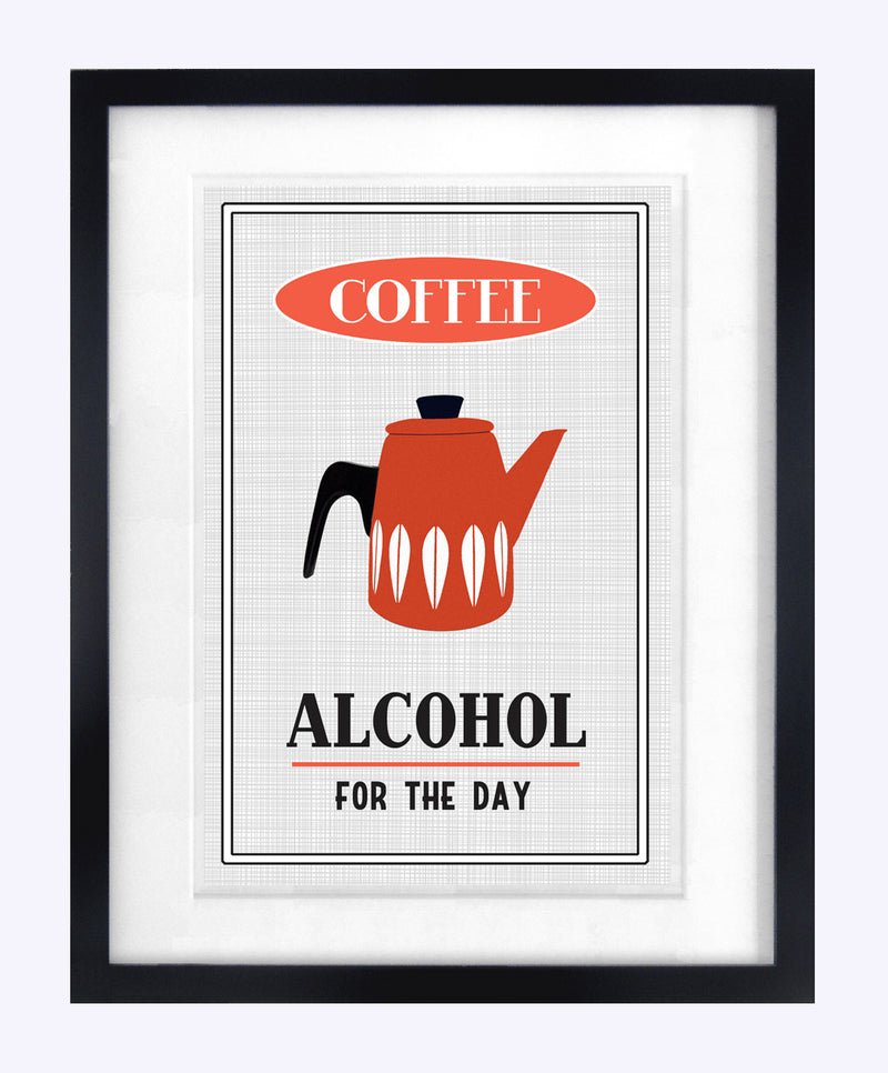 'Coffee, Alcohol for the Day' Print-A4 Print-Of Life & Lemons®
