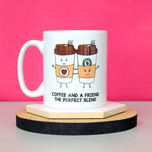 'Coffee And A Friend' Mug-Of Life & Lemons®