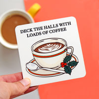 Funny Christmas Coffee Coaster-coaster-Of Life & Lemons®