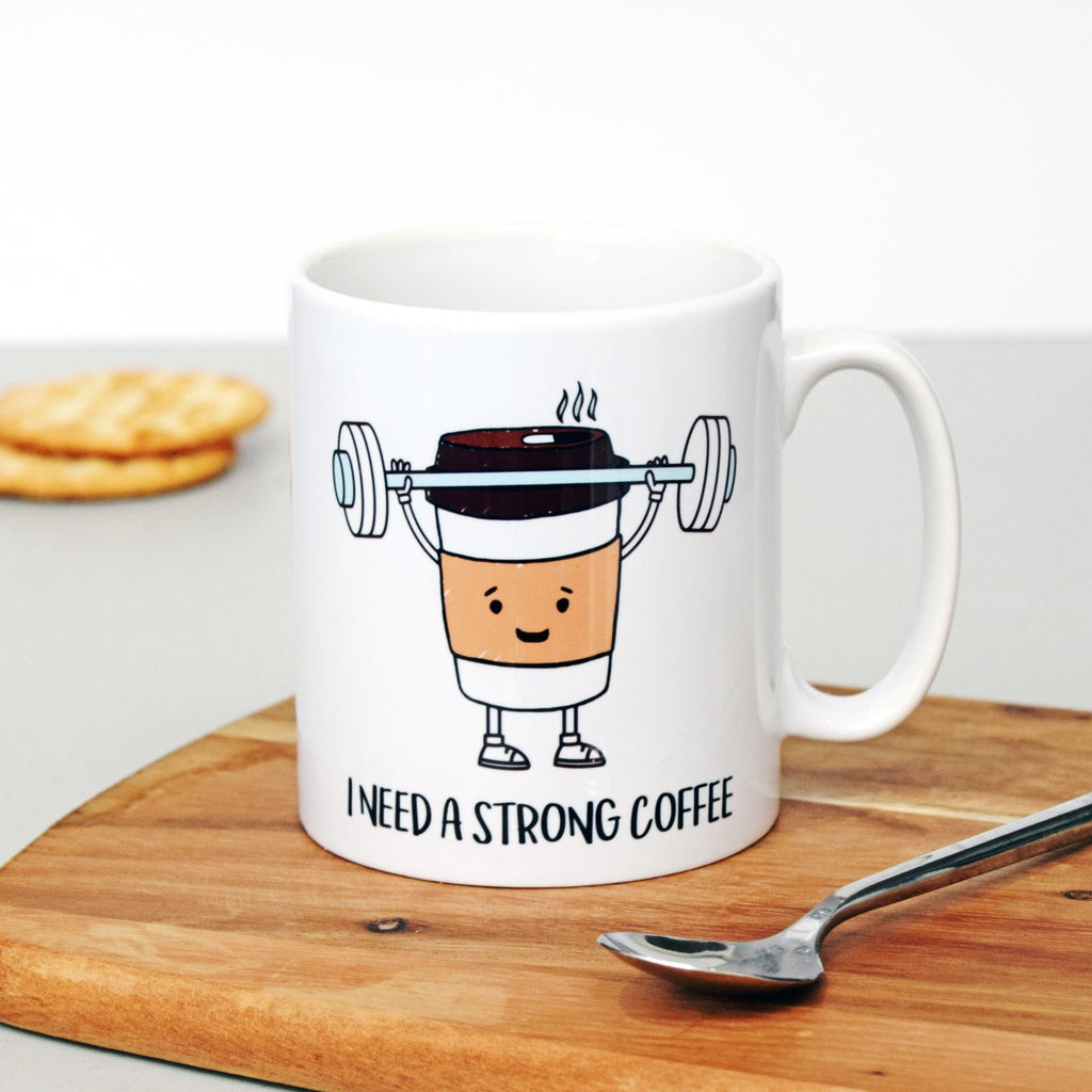 'I Need A Strong Coffee' Mug-Of Life & Lemons®