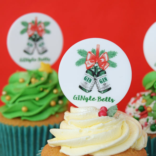 GINgle Bells Cupcake Toppers-cupcake topper-Of Life & Lemons®